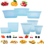 Reusable Fruit Vegetable Silicone Leak-proof Food Storage Container Set