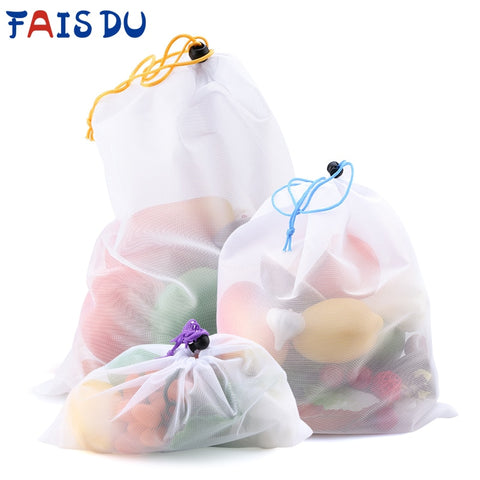 9/3/15 Units Reusable Mesh Eco-Friendly Fruit and Vegetable Bags