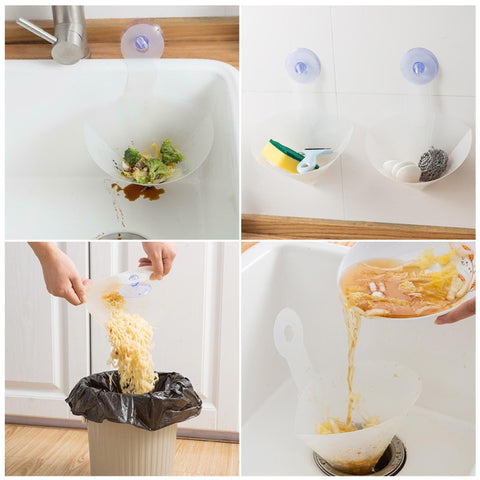 Recyclable Collapsible Kitchen Sink Drain Foldable Filter