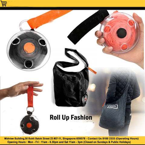 Folding Portable Shopping Bag Small Disc Telescopic Messenger
