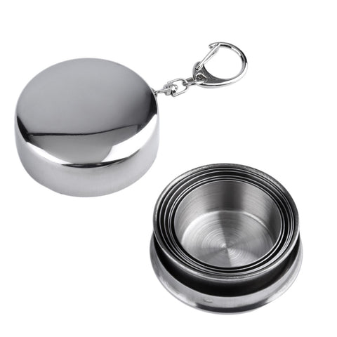 Collapsible Stainless Steel Traveling Outdoor Potable Folding Cup