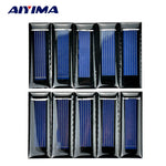 10 Pcs Mini Solar Panel Module Power Battery Charger