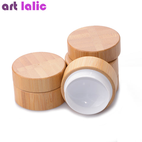 Bamboo Refillable Cosmetic Makeup Container Bottle