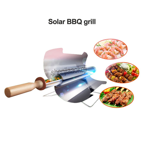 Portable Travel Outdoor Stainless Steel Folding Solar Furnace BBQ Grill