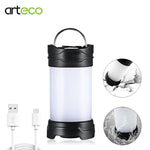 USB Rechargeable Outdoor Portable LED Light Lantern Travel Flashlight