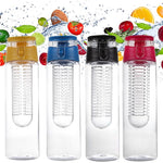 700/800ml Portable Infuser Sports Travel Glass Water Bottle