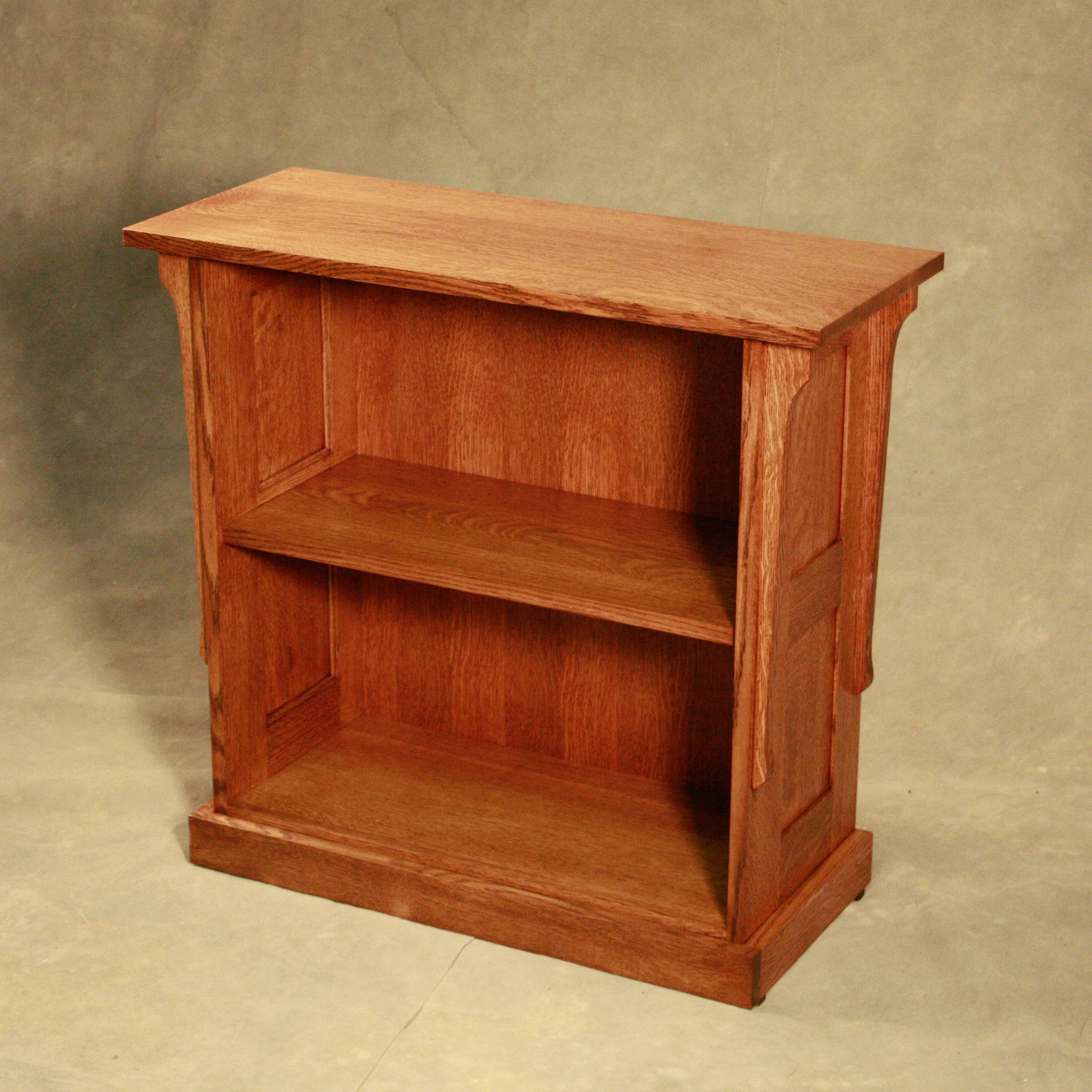 with orange shelving open wall cabinet bookcase bookcases masters products millwork