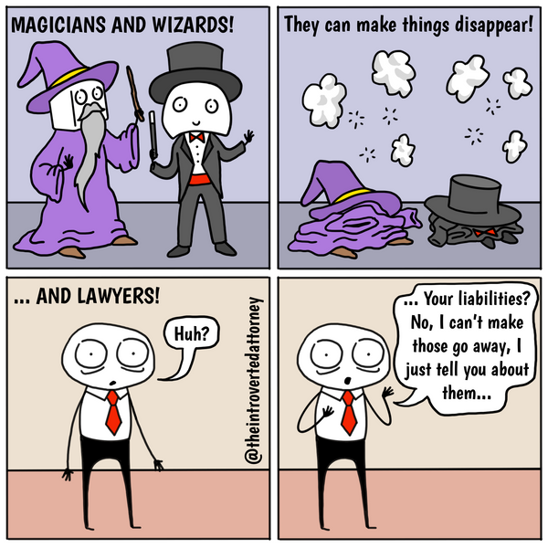 If only lawyers were magicians funny lawyer comics by The Introverted Attorney