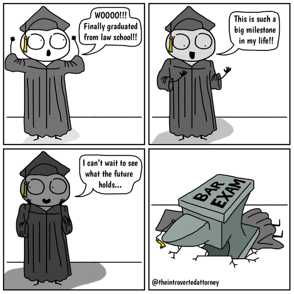 Law School Graduation Bar Exam Anvil The Introverted Attorney Comics