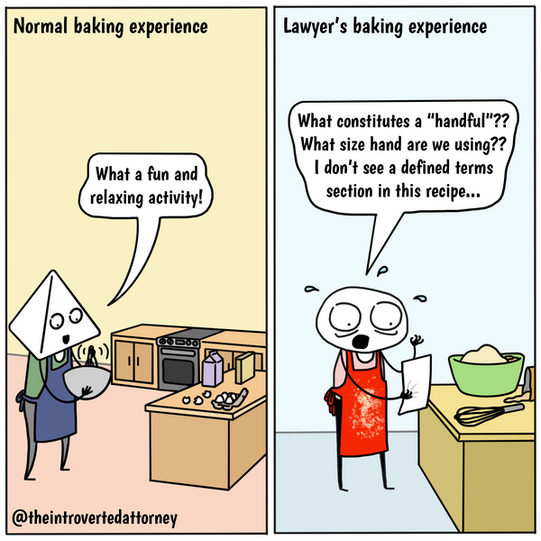 Funny comic about lawyers baking