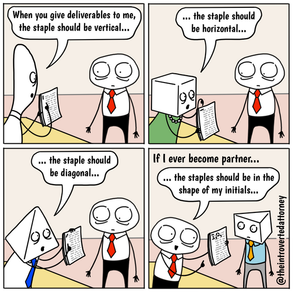 Law Firm Partner Stapling Preferences Comic