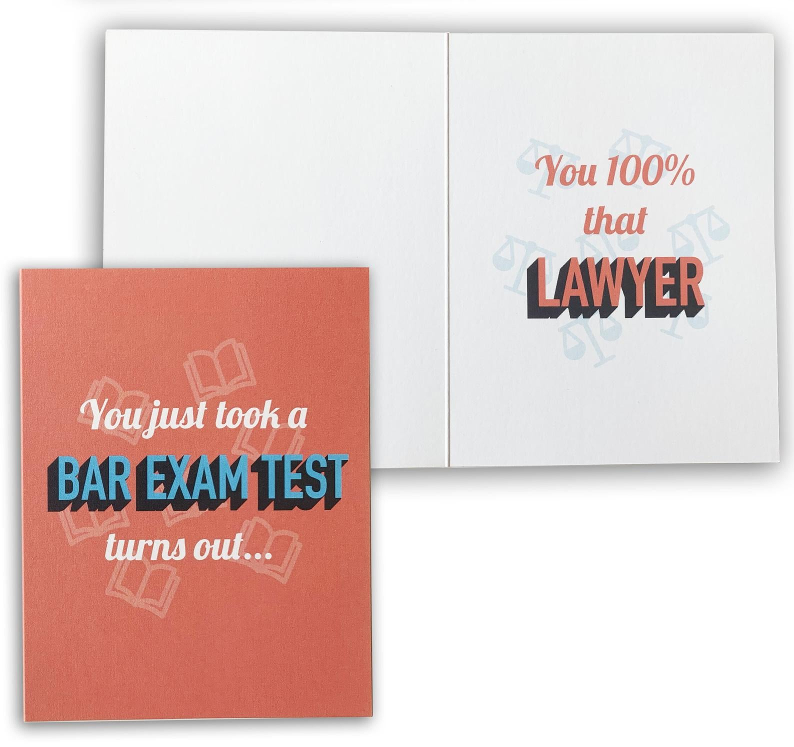 Lizzo Inspired You Just Took a Bar Exam Test, Turns Out You 100% Lawyer | New Attorney Congratulations Greeting Card