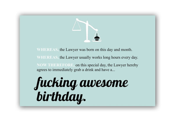 Fucking Awesome Birthday Lawyer Gift Box | Lawyer Birthday Box | Birthday Care Package for Lawyers | Attorney Birthday Gifts