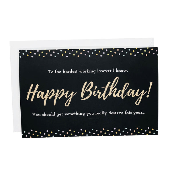 Happy Birthday Coupon Greeting Card for Attorneys