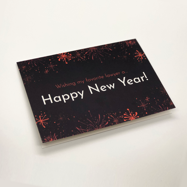 Happy New Year Card for Attorneys