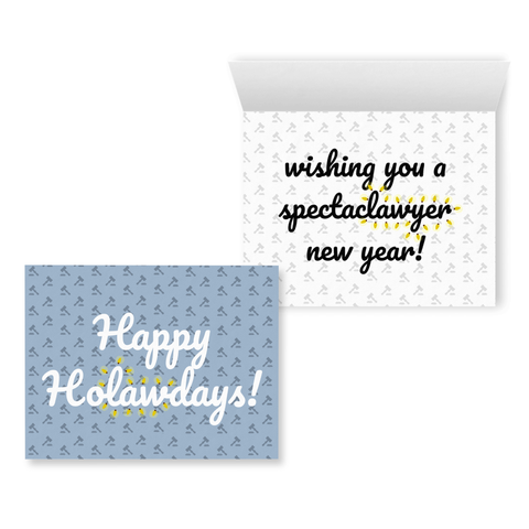 Happy Ho-law-days | Holiday Greeting Card for Lawyers | Punny Attorney Card