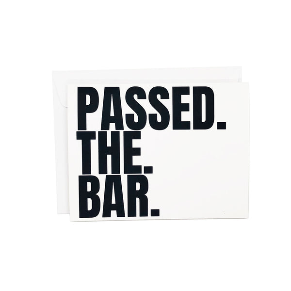 Passed The Bar, Now Go Drink At The Bar Card for New Attorneys