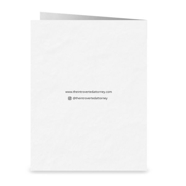 Straight Outta The Bar Exam Lawyer Greeting Card | Bar Exam Gifts | The Introverted Attorney