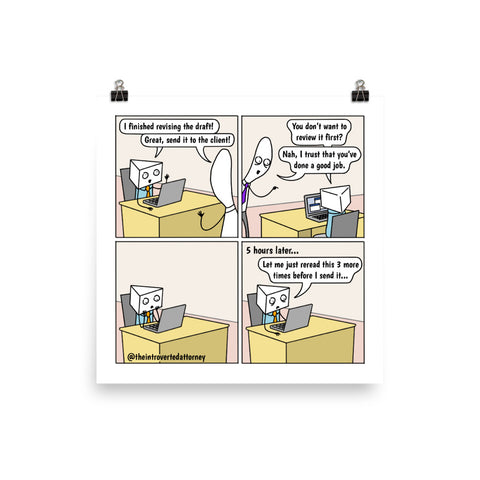 Let Me Just Reread This... | Best Lawyer Law Firm Gifts | Law Comic Print | Funny Gifts for Attorneys