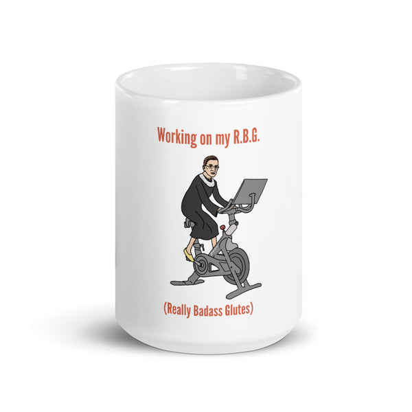 RBG Lawyer Mug | Ruth Bader Ginsburg Coffee Mug | Working on My Really Badass Glutes | Funny Lawyer Gifts