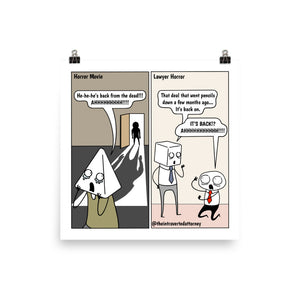 Back to Life | Best Lawyer Law Firm Gifts | Law Comic Print | Funny Gifts for Attorneys