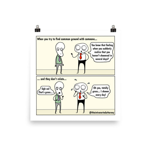 "Hit or Miss | Best Lawyer Gifts Comic Print (10"" x 10"") 