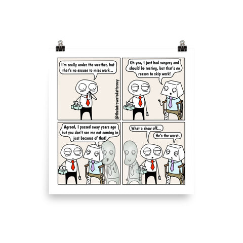Show Off | Best Lawyer Law Firm Gifts | Law Comic Print | Funny Gifts for Attorneys