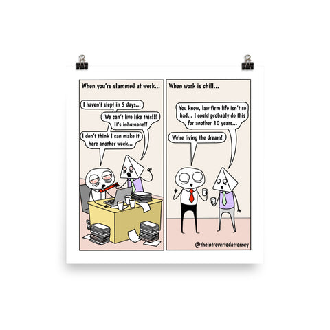 Short-Term Memory | Best Lawyer Law Firm Gifts | Law Comic Print | Funny Gifts for Attorneys