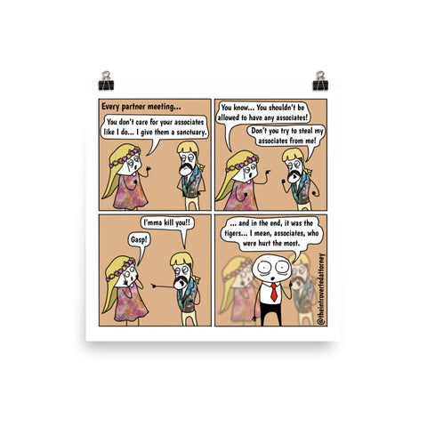 "Tiger King Partners | Comic Print (10"" x 10"") 
