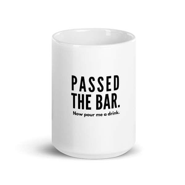 Passed The Bar. Now Pour Me a Drink Mug | Best Attorney Gifts | Funny Lawyer Cup | The Introverted Attorney