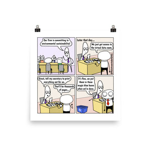 "Magic Blue Box | Recycling Bin | Best Lawyer Law Firm Gifts | Comic Print (10"" x 10"") 