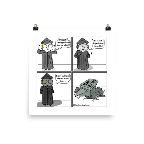 "Law School Graduation & Bar Exam Anvil | Comic Print (10"" x 10"") 