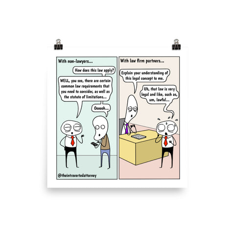 Talking Law | Best Lawyer Law Firm Gifts | Law Comic Print | Funny Gifts for Attorneys