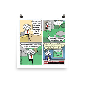 "I'm Back | Lawyer Comic Print (10"" x 10"") 