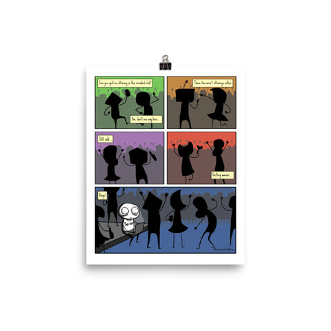 "Attorney at the Club | Comic Print (8"" x 10"") 