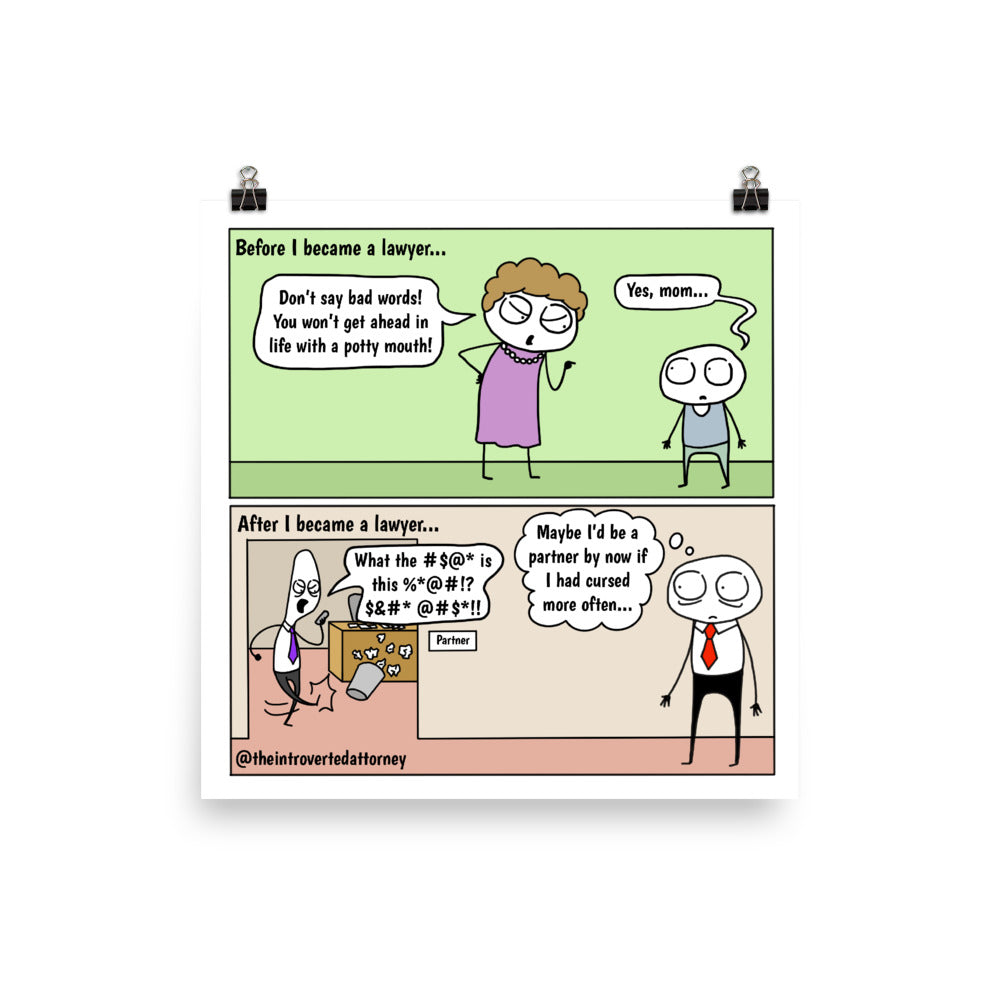 "How to Become Successful | Comic Print (10"" x 10"") 