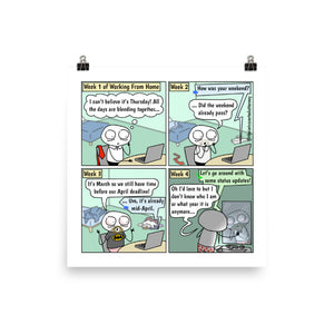 "Who Am I  | Comic Print (10"" x 10"") 