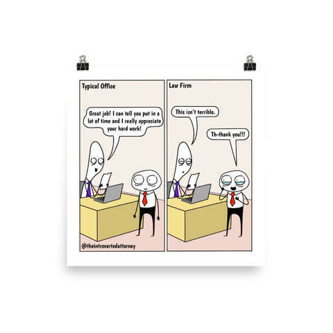 Low Standards | Best Lawyer Law Firm Gifts | Law Comic Print | Funny Gifts for Attorneys