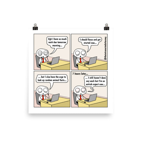Distractions | Best Lawyer Law Firm Gifts | Law Comic Print | Funny Gifts for Attorneys