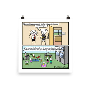 "New Office | Comic Print (10"" x 10"") 