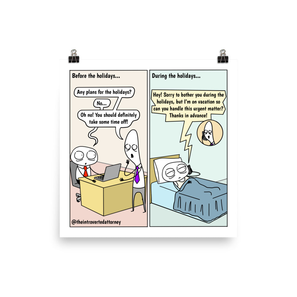 Holiday Request | Best Lawyer Law Firm Gifts | Law Comic Print | Funny Gifts for Attorneys