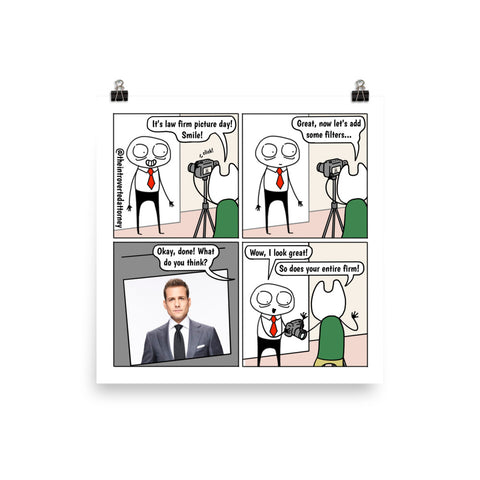 Law Firm Picture | Best Lawyer Law Firm Gifts | Law Comic Print | Funny Gifts for Attorneys