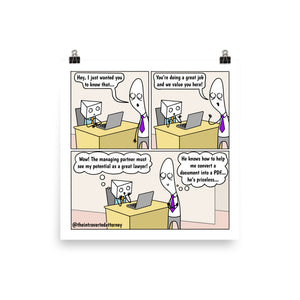 Priceless Associate | Best Lawyer Law Firm Gifts | Law Comic Print | Funny Gifts for Attorneys