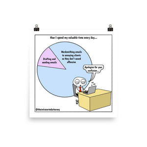 How I Spend My Valuable Time | Best Lawyer Law Firm Gifts | Law Comic Print | Funny Gifts for Attorneys