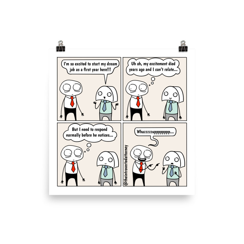Cannot Relate | Best Lawyer Law Firm Gifts | Law Comic Print | Funny Gifts for Attorneys