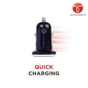 Remembrand Dual Port Turbo Car Charger - 2.1 Amp with i-Smart 2.0 Technology CX-150 Power Drive