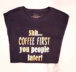 Coffee First - Tee