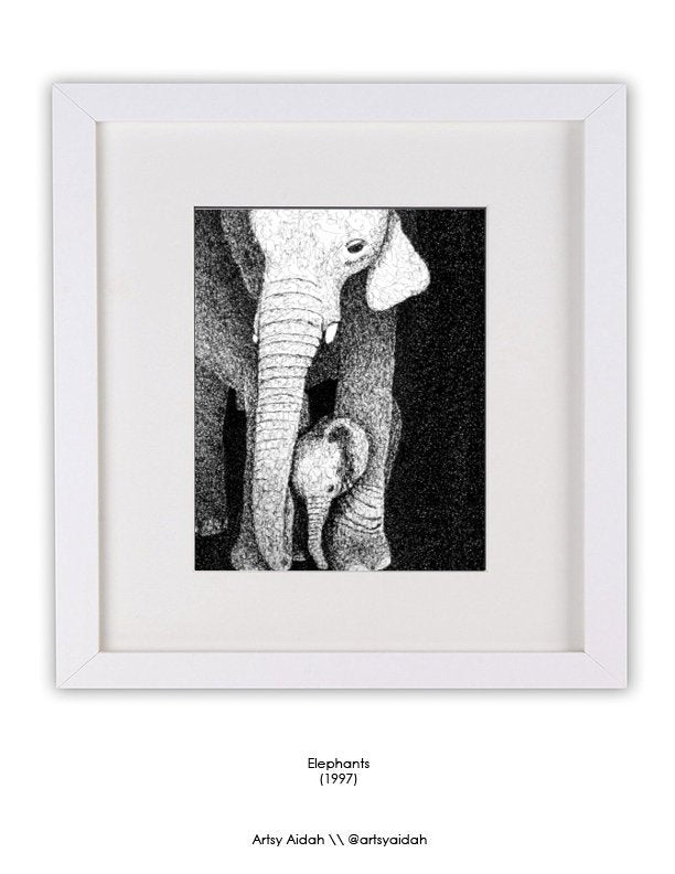 Elephants by @ArtsyAidah  (1997)