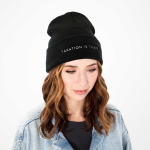 Taxation is Theft Beanie | Black