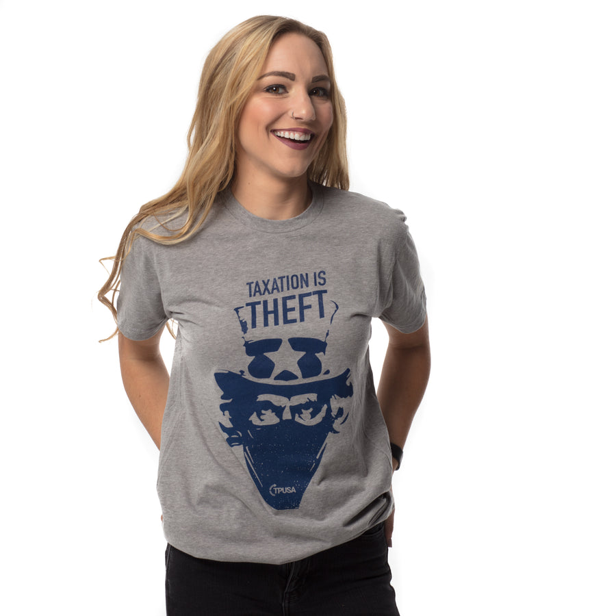 Taxation is Theft | Dark Heather Grey